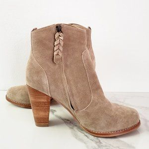 Joie Like-New Dalton Tan Suede Fall Ankle Bootie
